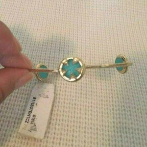 Melinda Maria Bracelet Blue Bangle 14k Gold Plated